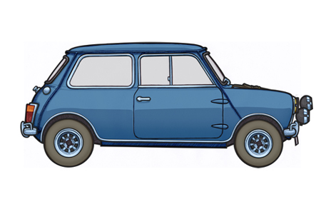 451 picture of an Austin Mini Cooper Mk1