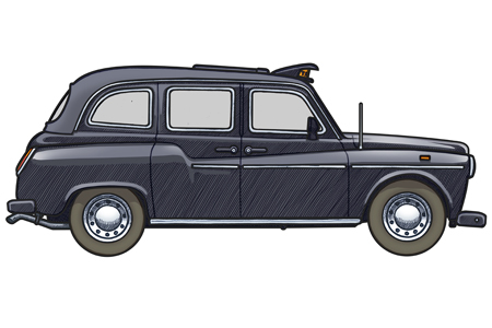451 picture of a 1990 Fairway London Taxi Cab