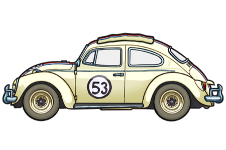 451 picture of a 1972 VW Beetle, pimped a Mexican Taxi Driver.