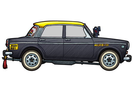 451 picture of a Fiat 1100 Mumbai Taxi Cab