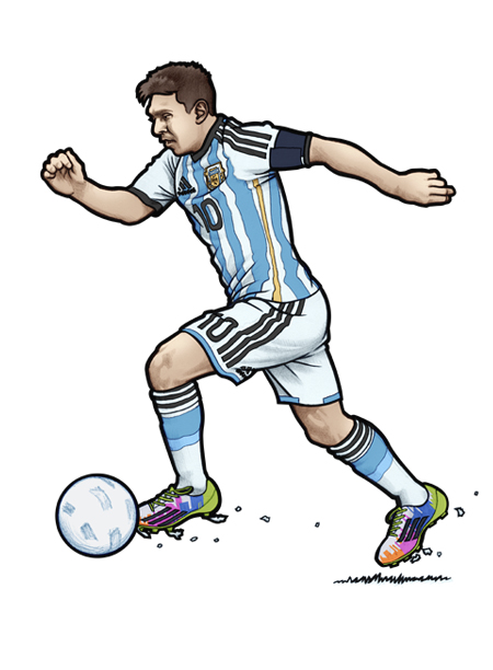 451 illustration of Argentina and FC Barcelonas number one in the world