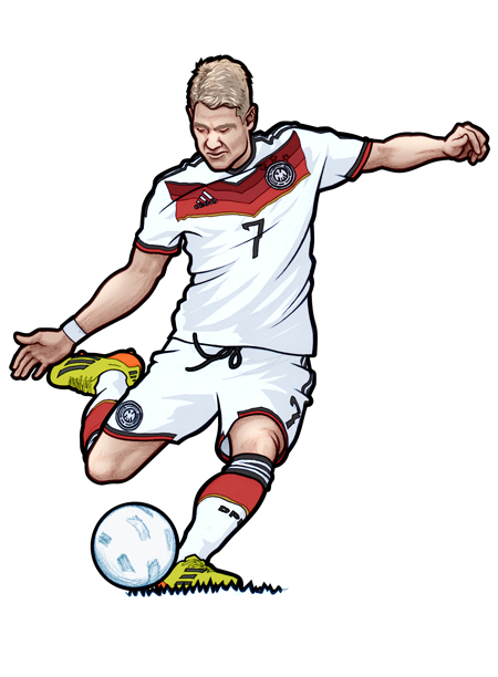 451 illustration of Bastian Schweinsteiger